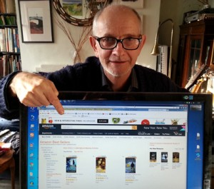 Peter Rowlands with Amazon sales ranking screen